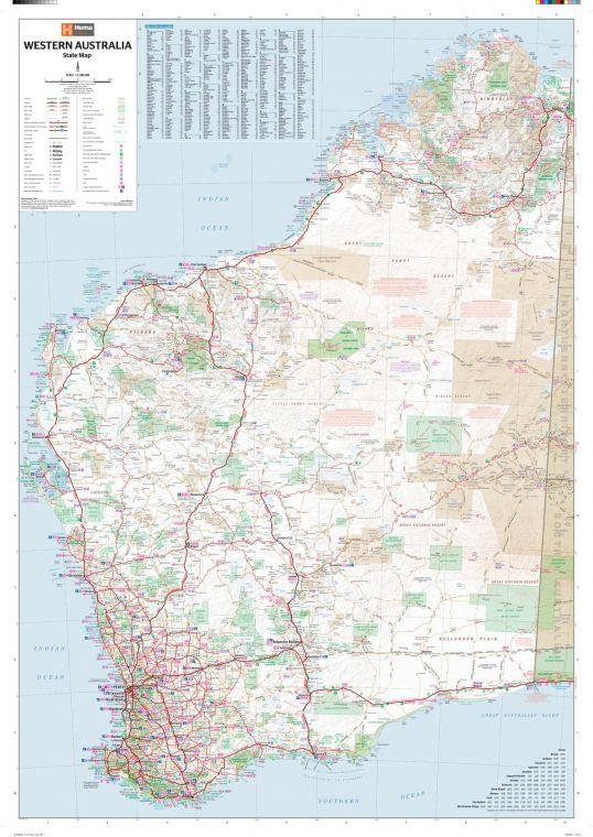 Western Australia State Wall Map 2