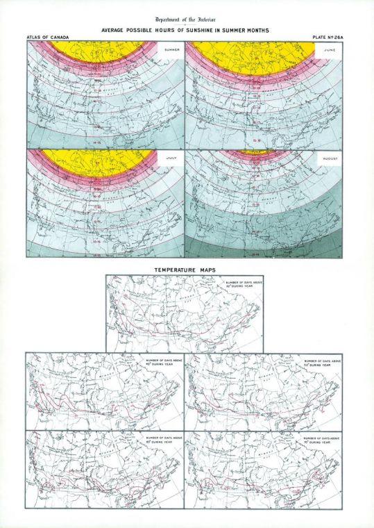 Sunshine And Temperature 1906 Map