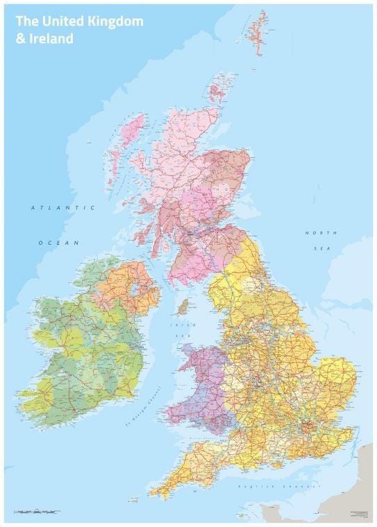 Uk Ireland Political Map