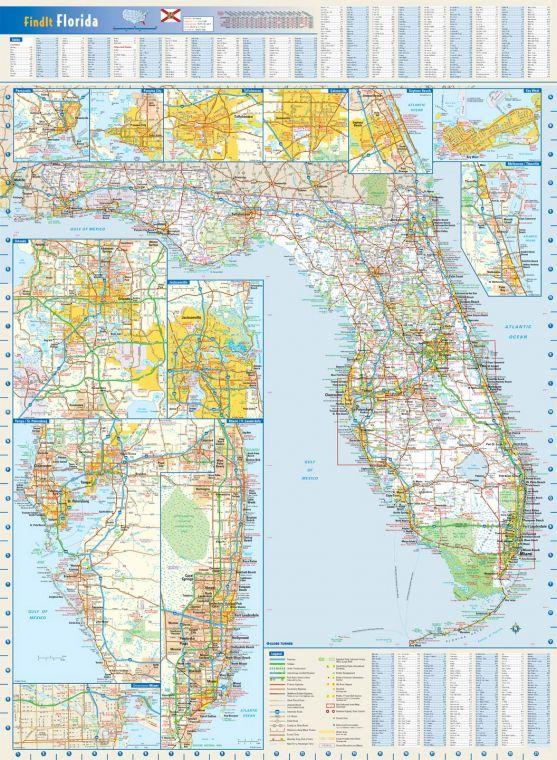 Florida State Wall Map