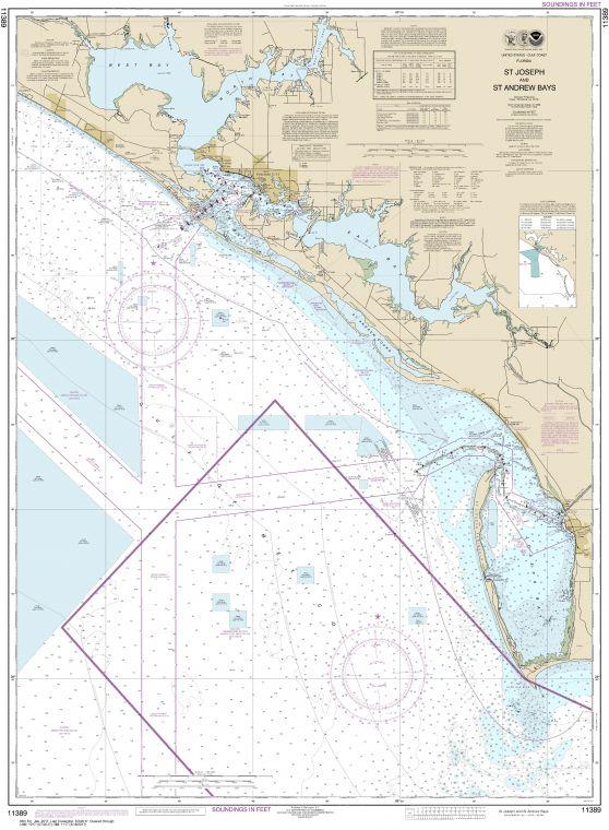 Noaa Chart 11389 St Joseph And St Andrew Bays
