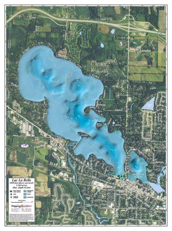 Lac La Belle Fowler Lake Map