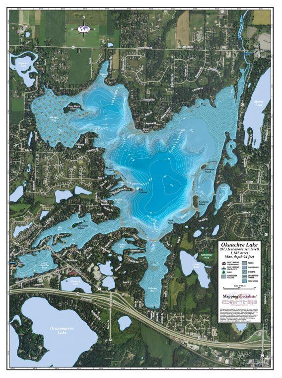 Okauchee Lake Map