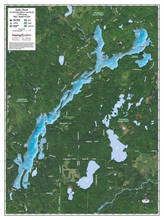 Owen Lake Map