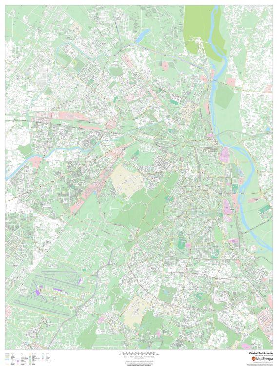 Central Delhi India Map