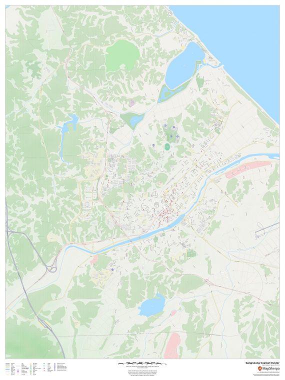 Gangneung 2018 Winter Games Coastal Cluster Venues Map
