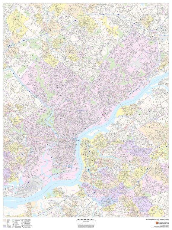 Philadelphia County Pennsylvania Map