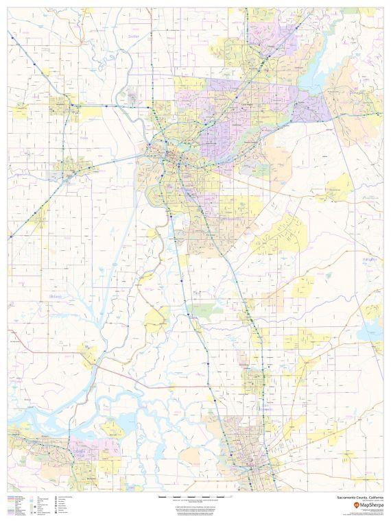 Sacramento County California Map