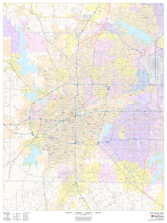Tarrant County Texas Map