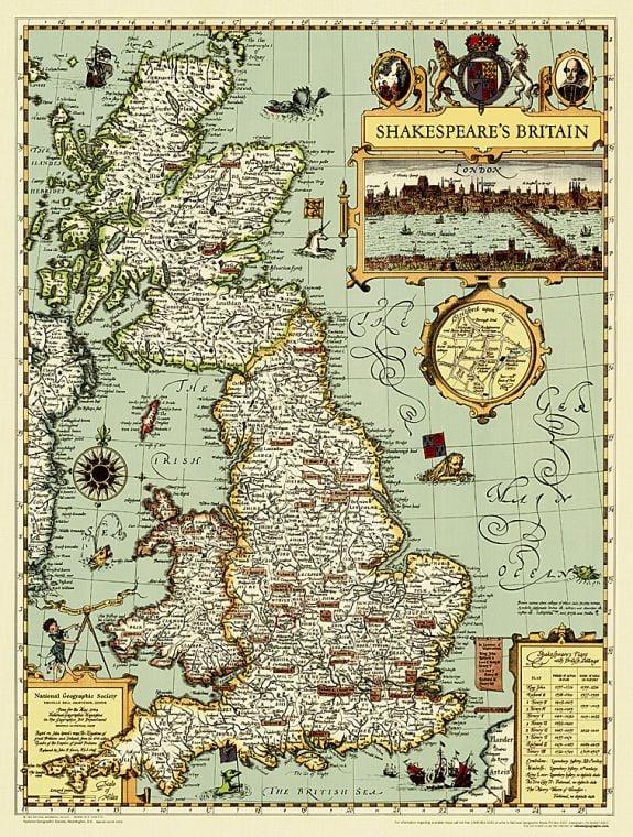 Shakespeare S Britain Map