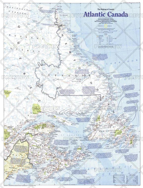 Making Of Canada Atlantic Canada Published 1993 Map