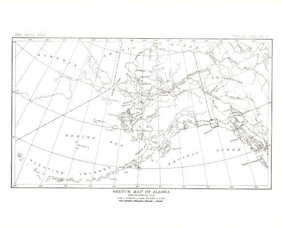 Alaska Published 1891 Map