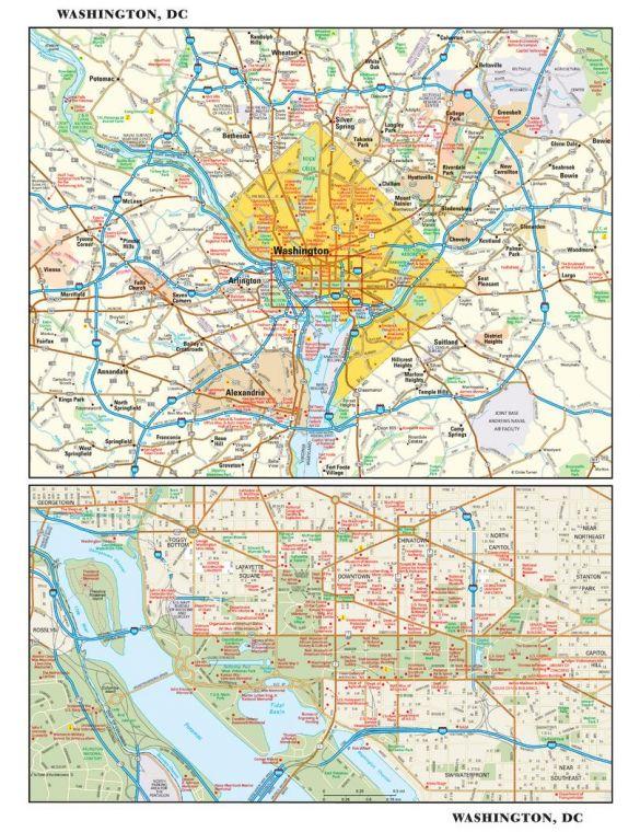 Washington Dc Wall Map