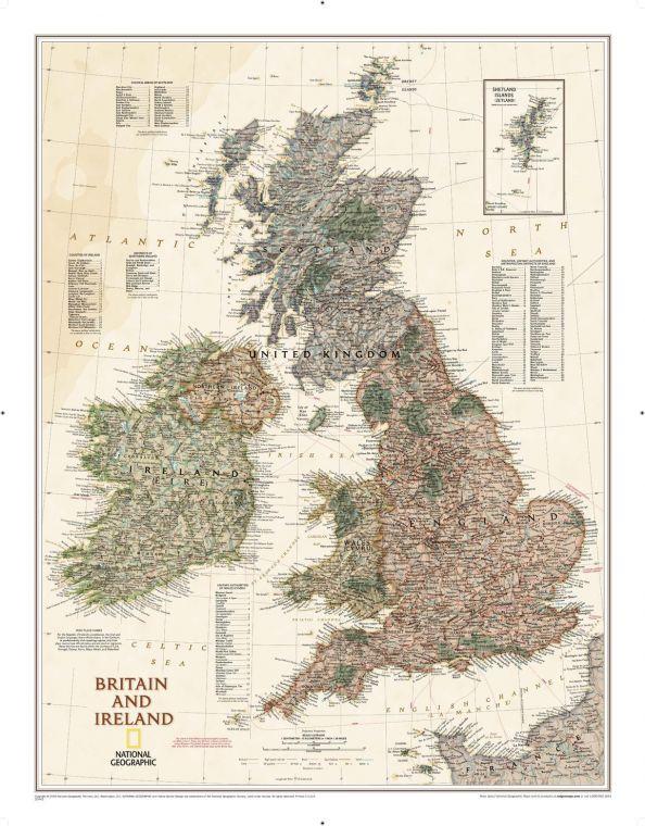 Britain And Ireland Executive Map