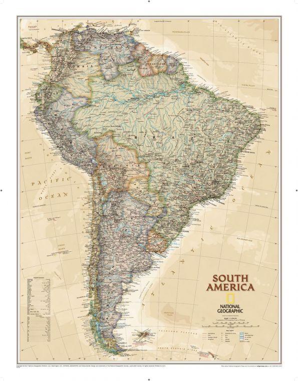 South America Executive Map