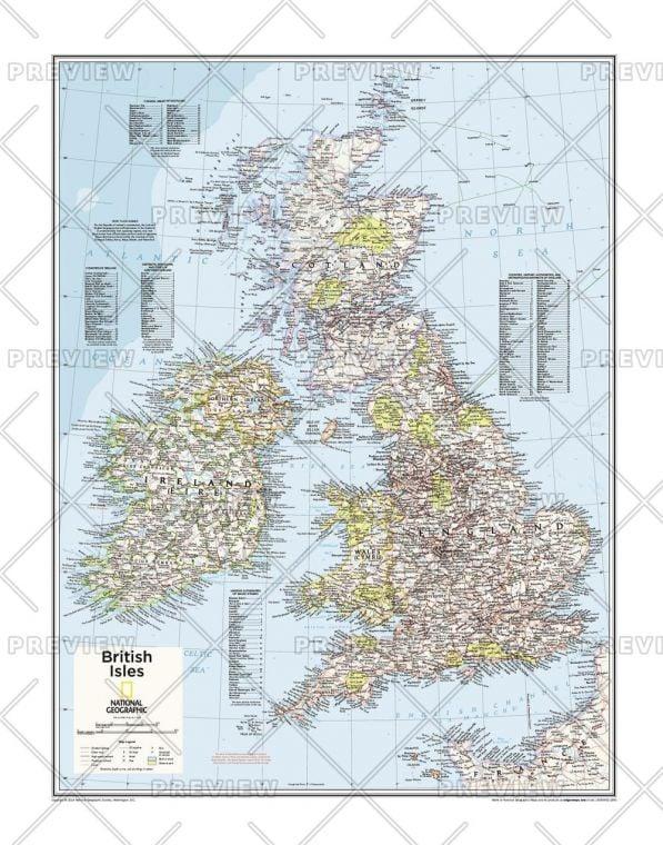 British Isles Atlas Of The World 10Th Edition Map