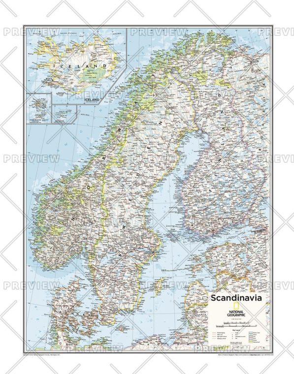 Scandinavia Atlas Of The World 10Th Edition Map
