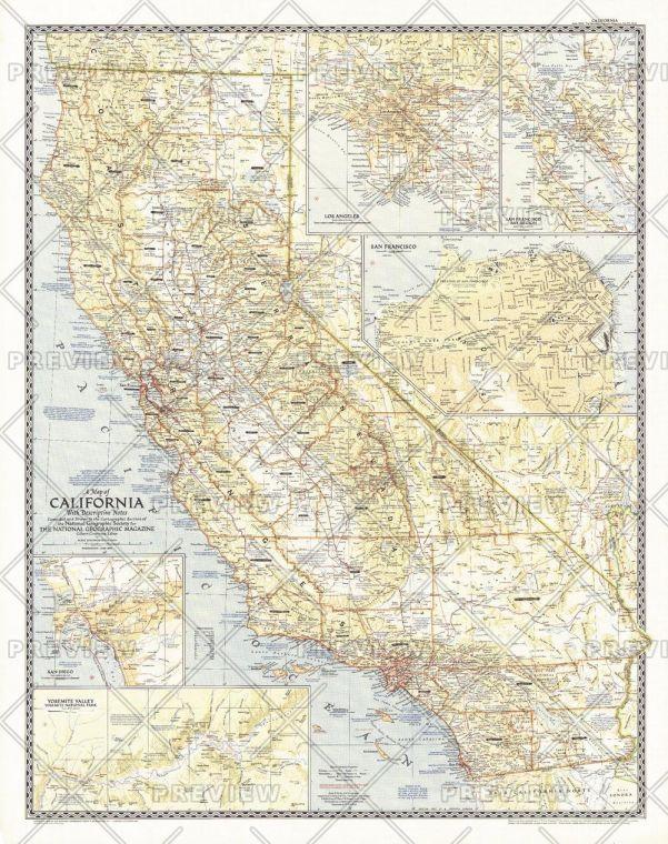 California Published 1954 Map