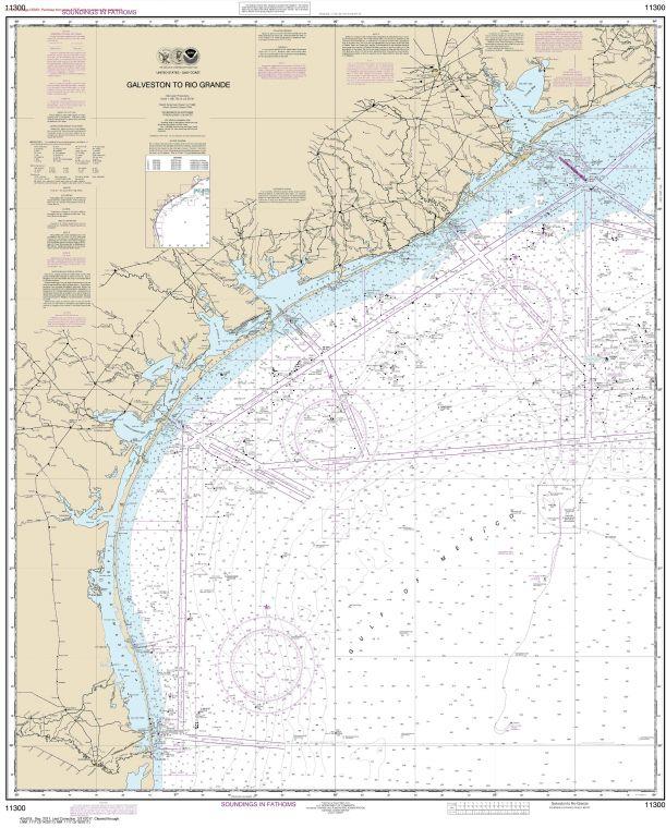 Noaa Chart 11300 Galveston To Rio Grande