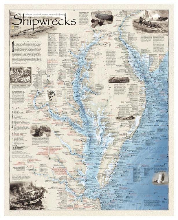 Shipwrecks Of Delmarva Map