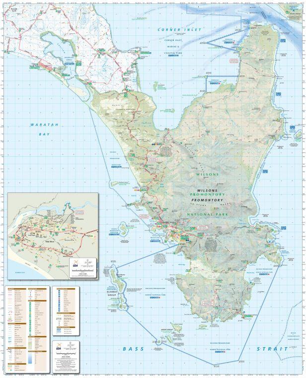 Wilsons Promontory Victoria Topographic Map