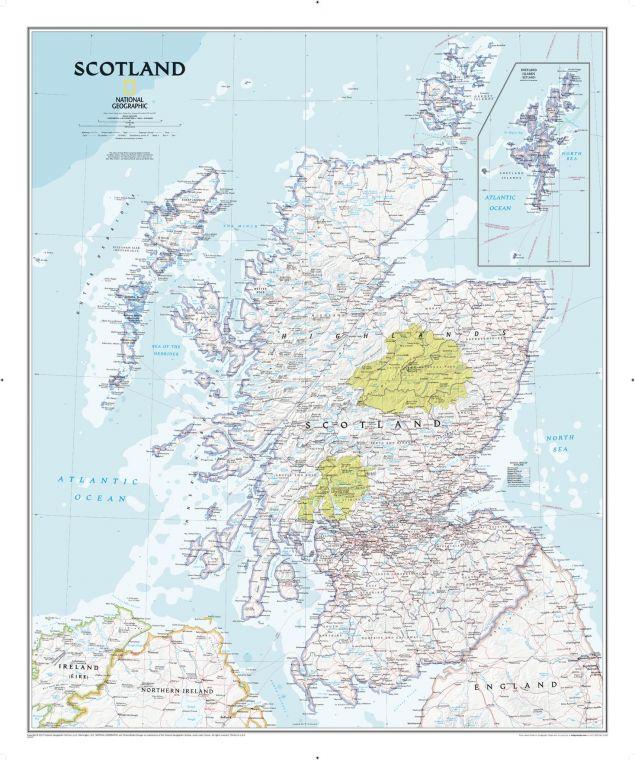 Scotland Classic Map