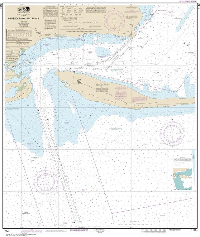 Noaa Chart 11384 Pensacola Bay Entrance