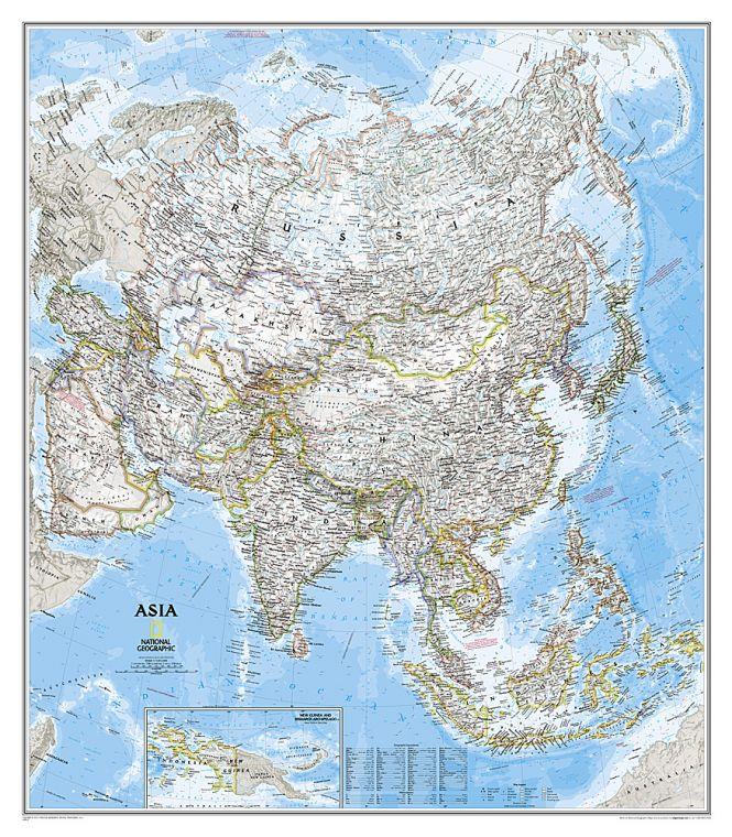Asia Classic Map