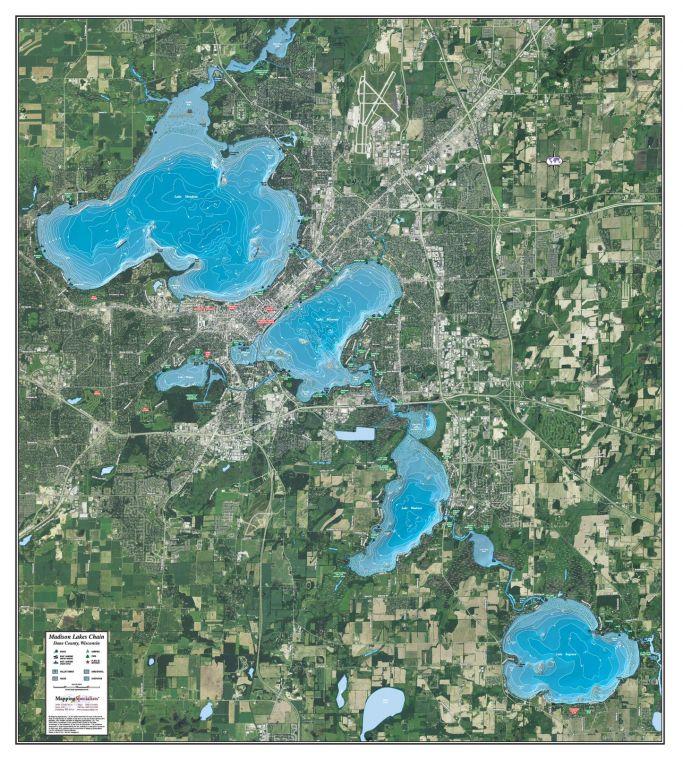 Madison Lakes Chain Map