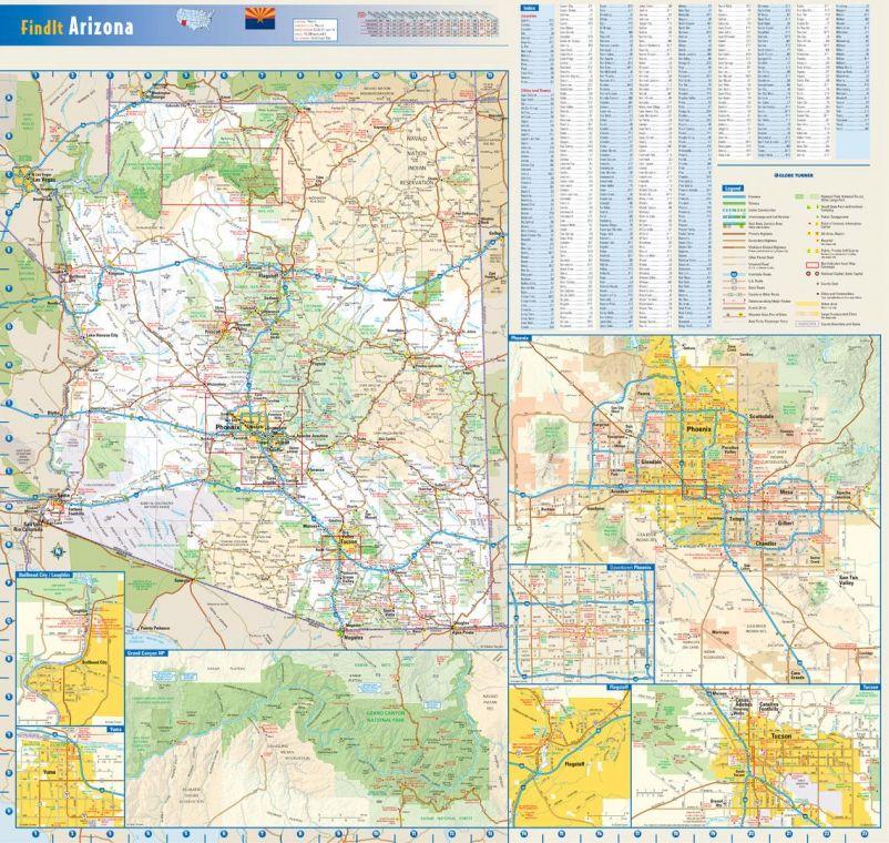 Arizona State Wall Map