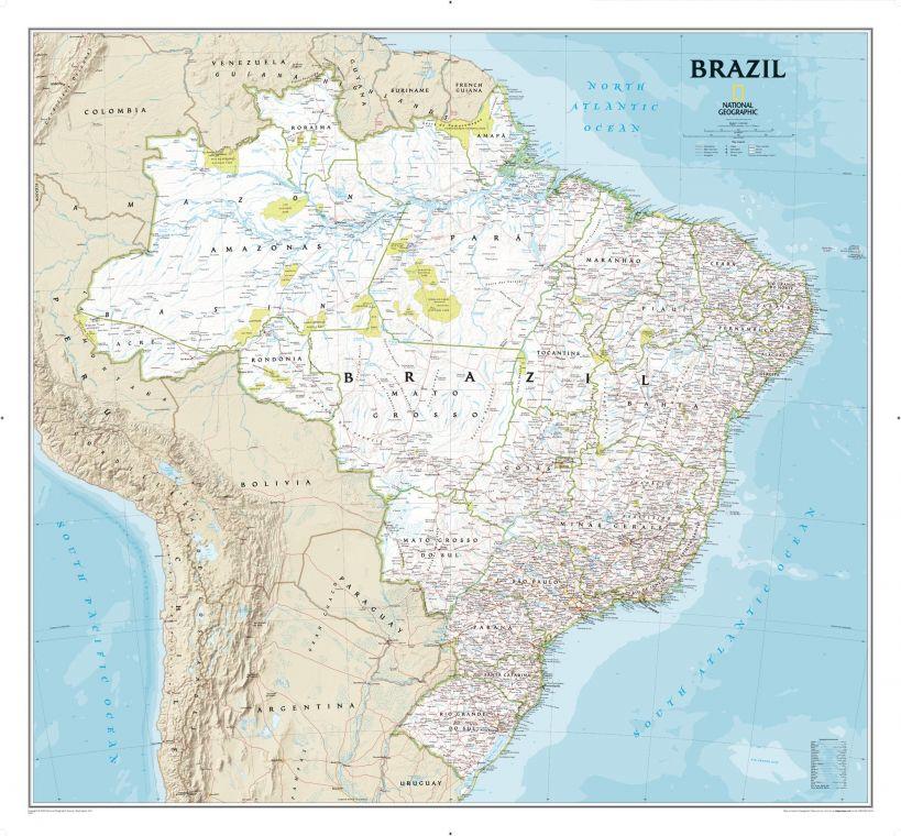 Brazil Classic Map