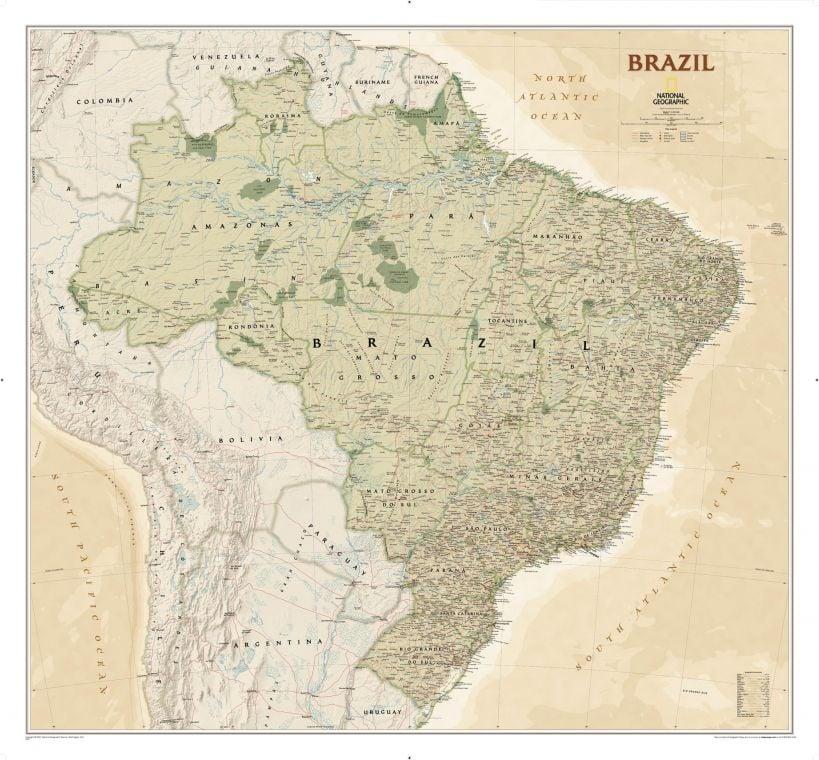 Brazil Executive Map