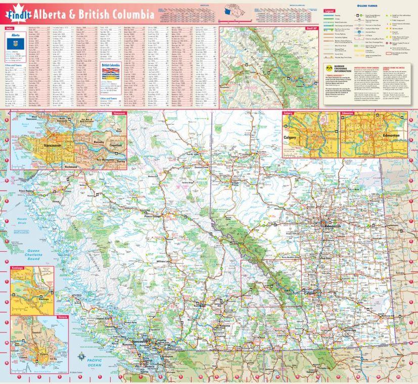 Map of BC and Alberta