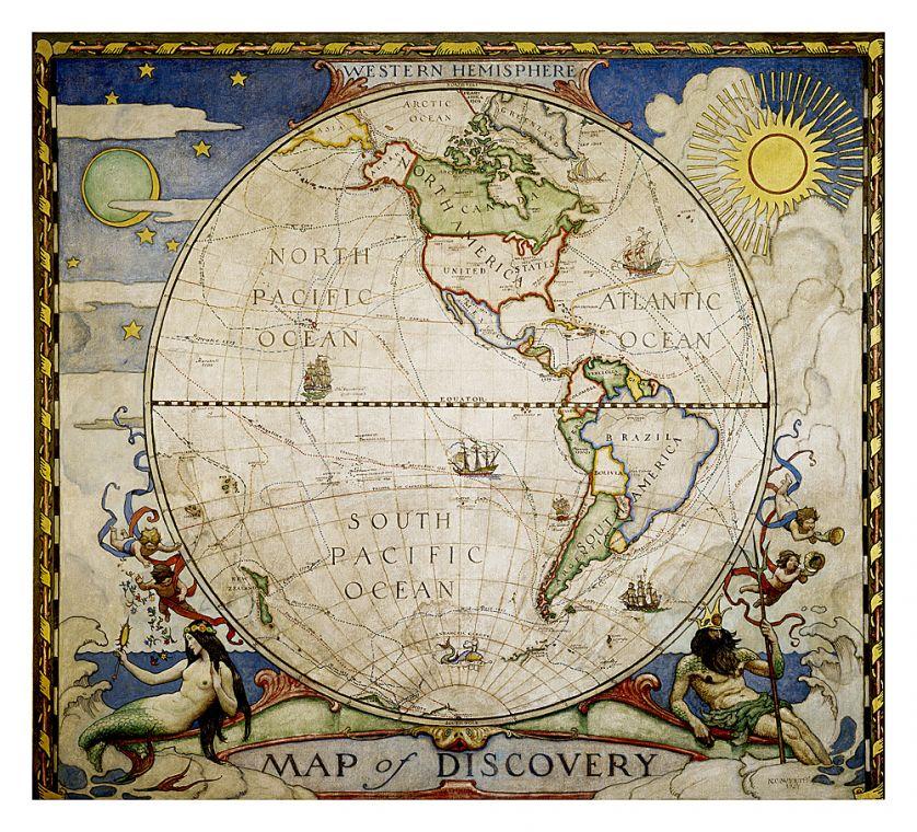 Map Of Discovery Western Hemisphere