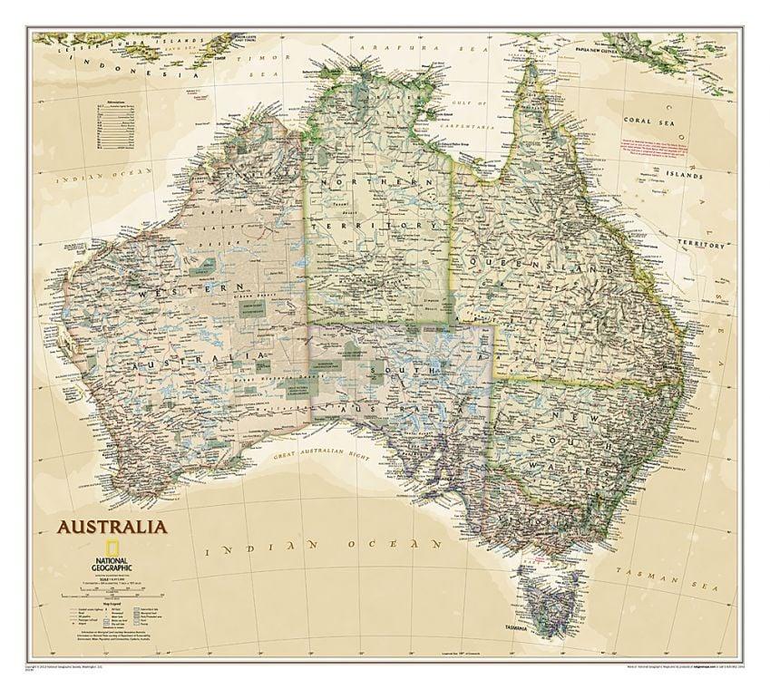Australia Executive Map