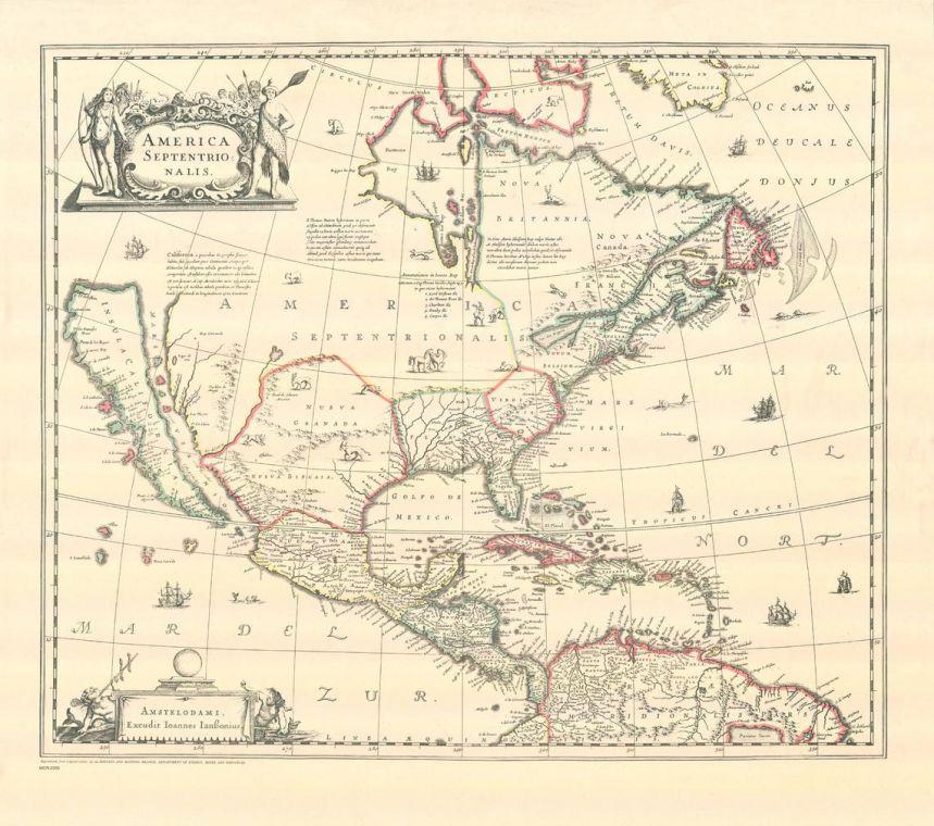 America Septentrionalis Map