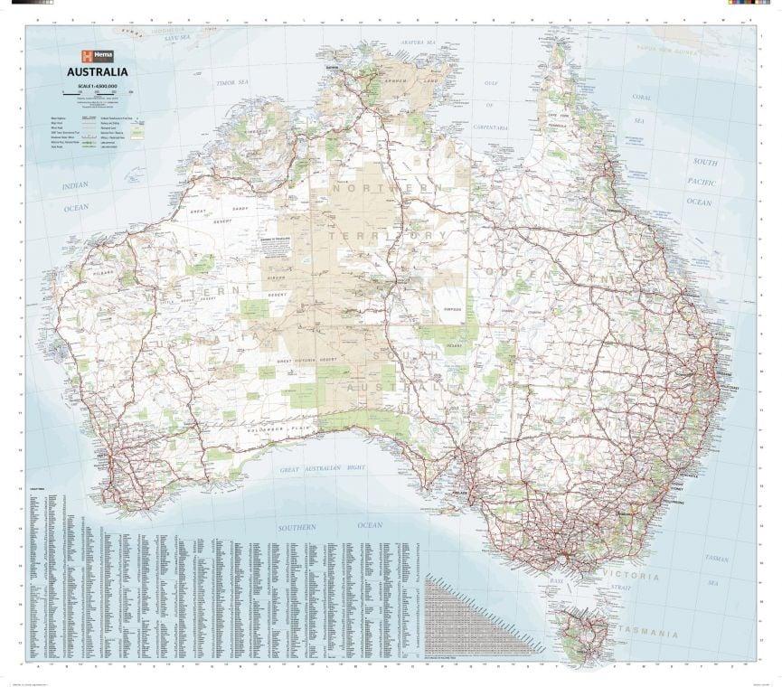 Australia Large Map