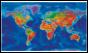 Artistic World Wall Map