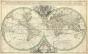 Sanson Map Of The World On Hemisphere Projection 1691