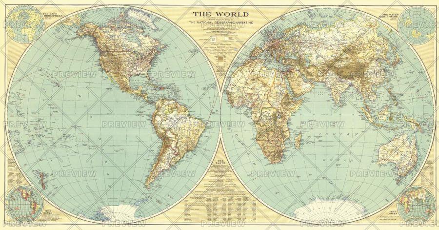 World Published 1935 Map