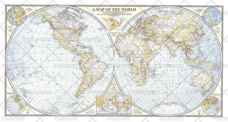 World Map Published 1941