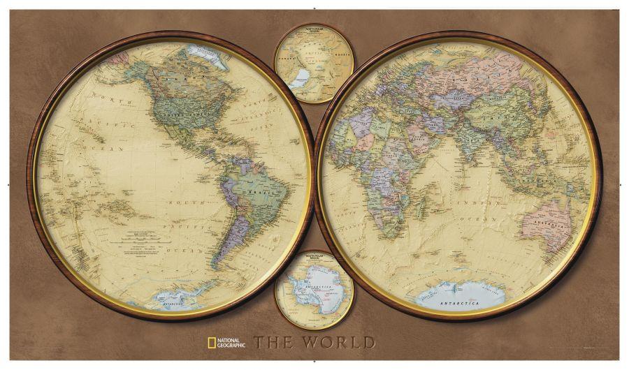 World Hemispheres Map