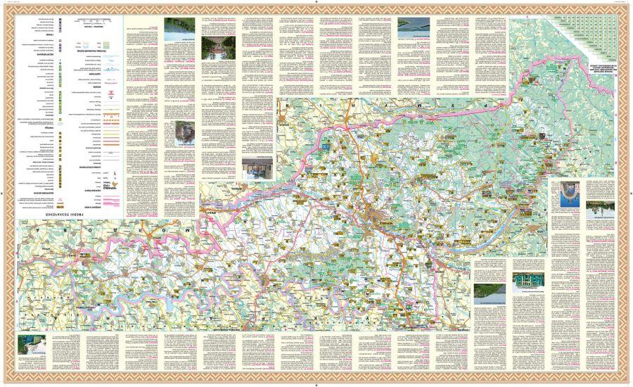 Chernivetska Oblast Wall Map Ukrainian