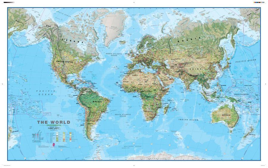 Environmental World Wall Map