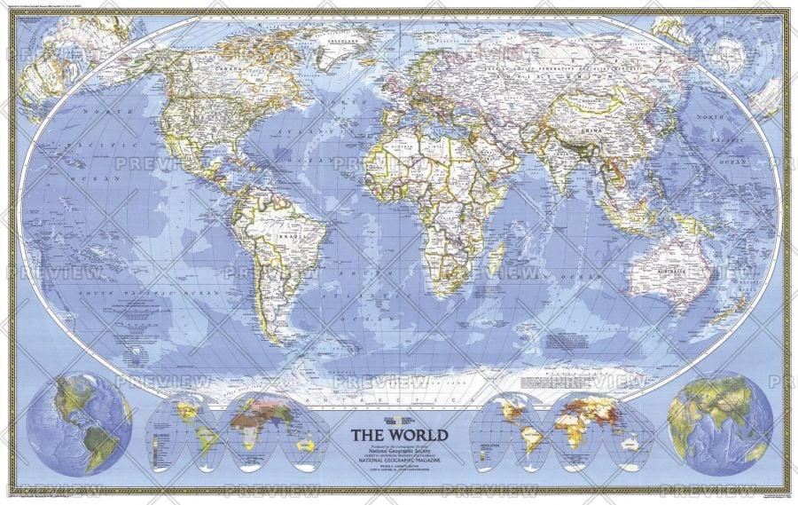 World Published 1988 Map