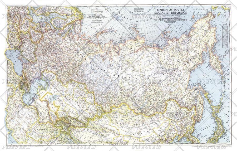 Union Of Soviet Socialist Republics 1938 1944 Published 1944 Map