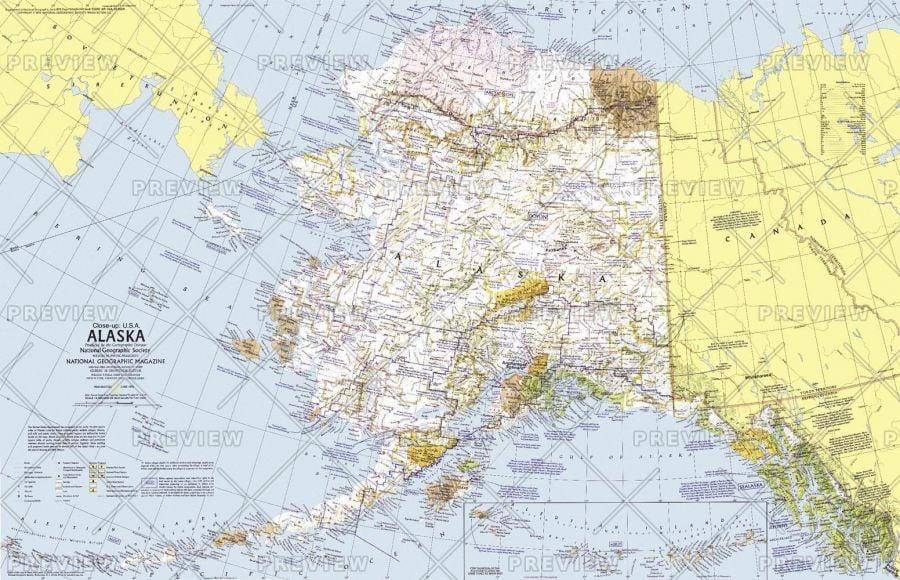 Close Up Usa Alaska Published 1975 Map