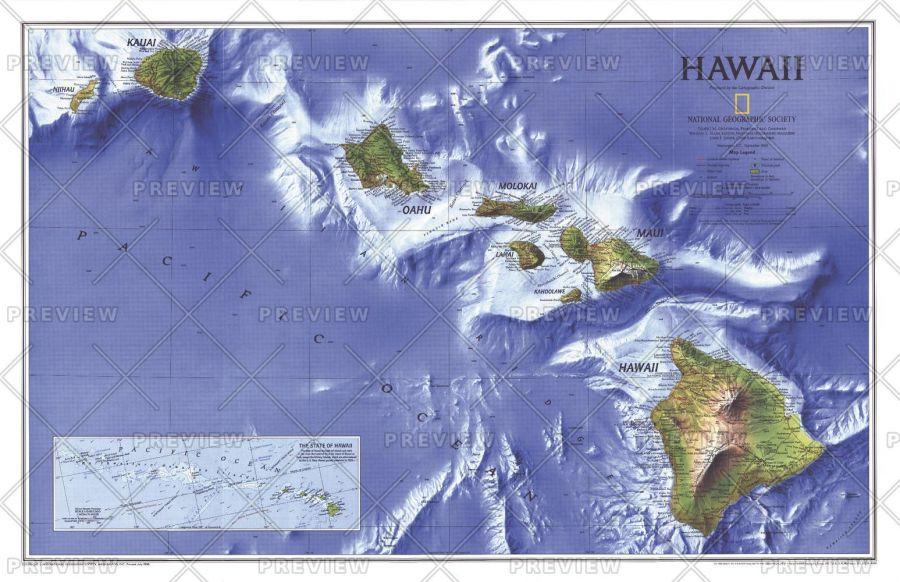 Hawaii Published 1995 Map