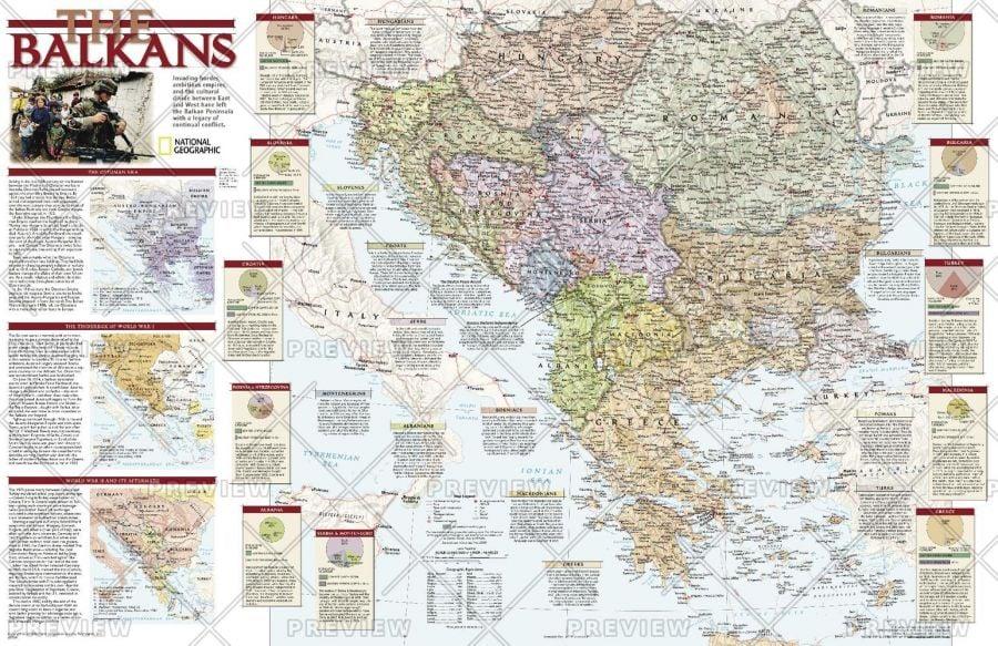 Balkans Conflict Published 2008 Map