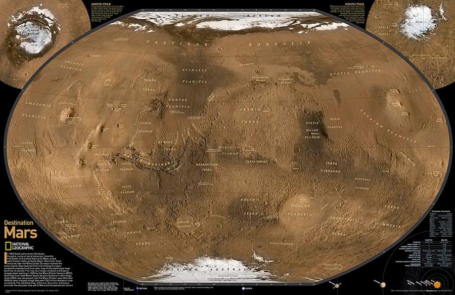 Destination Mars Map